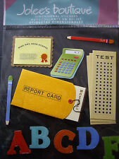 NEW 11 pc REPORT CARD Alphabet Calculator Test Diploma School JOLEE'S 3D Sticker