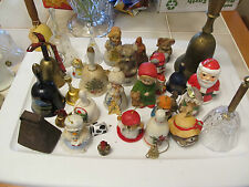 BELL COLLECTION - BIG LOT OF 30+ / METAL / COW / GLASS / CERAMIC - MANY PICTURES