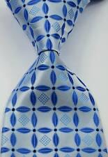 New Elegant Floral Leaf Blue JACQUARD WOVEN 100% Silk Men's Tie Necktie
