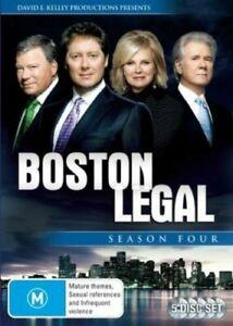 Boston Legal Season 4 Four DVD (SET) Series Complete Fourth - AUST REGION 4
