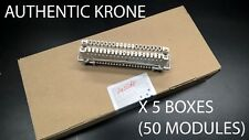 KRONE DISCONNECT MODULE CARRIER ENDORSED 5 BOXES OF 10 (NEW SEALED BOX)