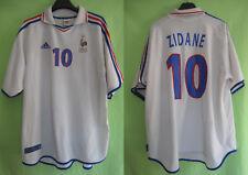 Maillot Equipe de France Euro 2000 Zidane #10 Adidas exterieur Vintage - XXL