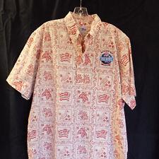 Reyn Spooner Hawaiian Shirt NFL Pro Bowl 2007 Pullover Red Hibiscus Nene Flag