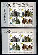 Gran Bretagna 1978 Foglietto London ´80 + M.S. Overprinted Europa 1978 New MNH