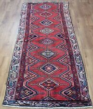 Persian Traditional Vintage Wool 278cmX90cm Oriental Rug Handmade Carpet Rugs
