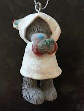 ME TO YOU TATTY TEDDY BEAR XMAS TREE HANGING DECORATION - GLITTER WHITE HOODIE