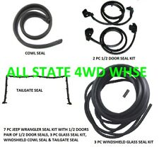 Rubber Weatherstrip Seal Kit Set For 1/2 Doors for 87-95 Jeep Wrangler 7 Pieces