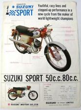 SUZUKI Sports 50cc 80cc + Range Original Motorcycles Sales Sheet