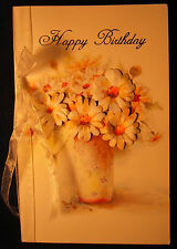 Hand-made pressed bouquet birthday cards - set of 2, free shipping