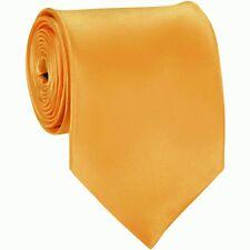 Gold New Slim Solid Mens silk Tie groom wedding skinny silver  Necktie Gold