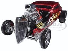 1934 BLOWN ALTERED NITRO COUPE RED METALLIC W/ FLAMES LTD ED 1200 1/18 GMP 18816