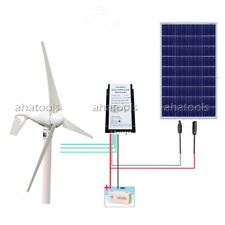 400W Wind Hybrid Generator & 100W Solar Panel for 500W 12V Home System Kits
