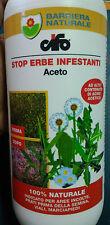 CIFO Acido Acetico - STOP ERBE INFESTANTI, Diserbante Totale Naturale Biologico