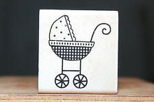 Baby Buggy Newborn D1170 Stampabilities Wood & Foam Backed Rubber Stamp