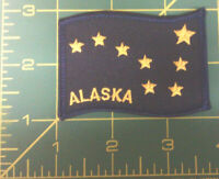 Embroidered Alaska Patch - Alaska State Flag - iron on - Ships worldwide!