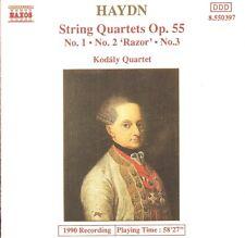 Haydn - String Quartets, Op.55 No.1, No.2 'Razor' & No.3 / Kodály Quartet