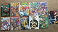 (Lot Of 11) Image Comics Spawn #22 1994, Cyber Force 1, Youngblood 1, Wildcats 1