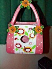 Birds Of Paradise Pink Purse Bird Feeder Birdhouse Or Just For Decoration