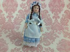 Dollhouse Miniature Porcelain Little Victorian Girl Poseable Ceramic Doll 1:12