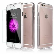 Full Body Clear Hard Case with Tempered Glass Screen Protector iPhone 6S/ 7/Plus
