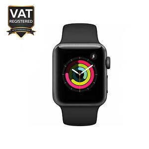 Apple Watch Series 3 38mm GPS Space Grey Case Black Sport Band - UK Model