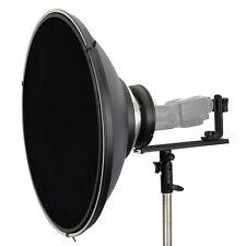 Soporte flash T-form (bowens) con Beauty Dish 42 cm incl. panal para sistema relámpago