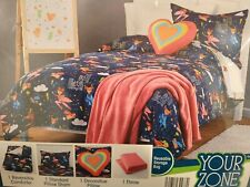 Superhero Girls Super Pug Twin Size 4 Piece Girls Comforter Set Your Zone  NEW