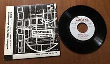 """33 giri 7"""" Leopardi detto da Arnoldo Foà Collana letteraria documento"""