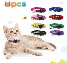 Bling Cat Collars with Bell Adjustable Collar for Cats Small Pets Bling-8 Pcs
