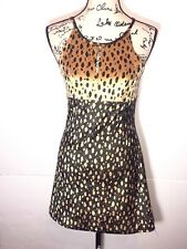 Jus D'Orange Paris Fit & Flare Dress Womens Size S Small Animal Print Cheetah