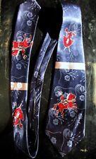 Vintage Embossed Silk Regal Cravat - Shiny Knight In Armour Tie Necktie