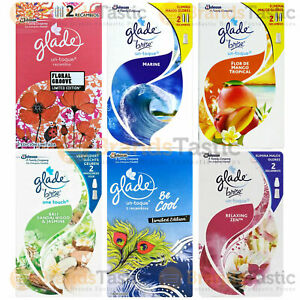 12 x GLADE ONE TOUCH PRESS HOME ROOM OFFICE AIR FRESHENER REFILLS 10ML