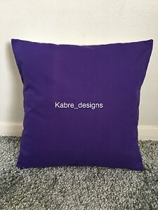 """NEW 12"""" PLAIN DARK PURPLE CUSHION COVER PILLOW BED SOFA MORE COLOURS SIZES AVAIL"""