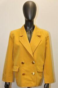 Vintage 80's jacket YVES SAINT LAURENT saffron wool 40FR 8US made in France
