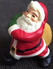 Vintage 1983 Hallmark Cards Merry Miniatures Red White Santa Plastic Figurine