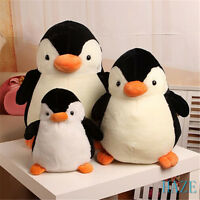 Cute Penguin Plush Soft Toy Stuffed Animal Doll Pillow Kid Xmas Birthday Gift Uk