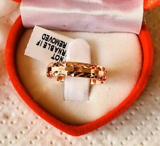 Rose Gold Overlay 925 Sterling Silver Ring Size O