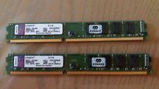 8GB (2x 4GB) LP Kingston KVR1333D3N9/4G PC3-10600 (DDR3-1333) Memory Modules