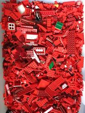 100+ RED LEGO PIECES HUGE BULK LOT OF BRICKS PARTS @ RANDOM RARE BLOCKS LBS LB
