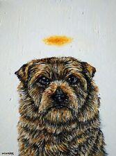 norwich terrier rangel  dog art print halo 13x19
