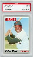 Willie Mays 1970 Topps # 600 San Francisco Giants PSA 7 Near MINT HOF Sharp Card