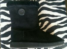 Michael Kors Ugg Boot Womens Size 8 Black Suede Leather
