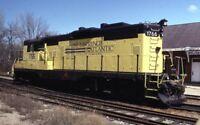 ST LAWRENCE & ATLANTIC Railroad Co Locomotive 1766 S PARIS ME 1994 Photo Slide