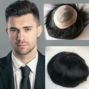 Men Toupee 100% Original Human Hair Replacement System (delivery 7-8 days)