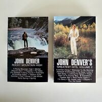 John Denver - Lot of 2 Cassettes - Greatest Volume 2 - Rocky Mountain High