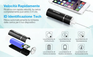 POWERADD Slim2 Mini Powerbank 5000mAh Caricabatterie portatile 2.1A Viaggi Aereo