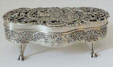 Antique large silverjewel/pot pourri box par william comyns fine qualité 5.75""