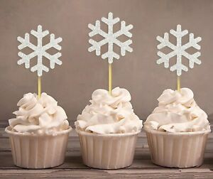 Christmas Snowflake Winter Wedding,Cupcake Toppers-Pack Of 20-DSCCT-22A