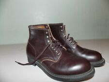 1970's Brown Leather Mason Boots Men's Size 8E Usa Made Deadstock, Never Worn