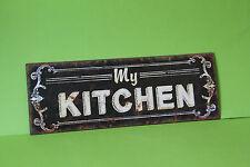 Blechschild  MY KITCHEN   36 x 13 cm Eisen Neu    TP-111